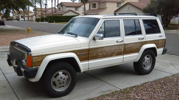 1985 jeep grand wagoneer v6 auto for sale in phoenix arizona. Black Bedroom Furniture Sets. Home Design Ideas