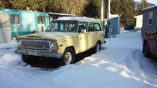 1969 jeep grand wagoneer 350 v8 auto for sale in missoula. Black Bedroom Furniture Sets. Home Design Ideas