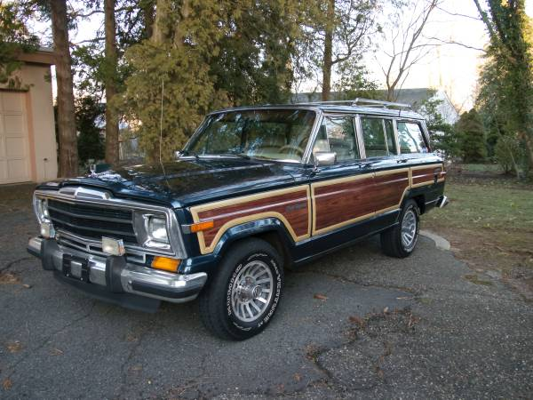 1990 jeep grand wagoneer 360 v8 auto for sale in cape cod. Black Bedroom Furniture Sets. Home Design Ideas