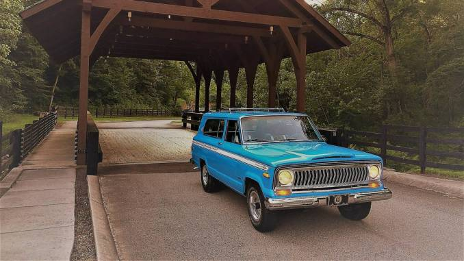 1975 restored jeep wagoneer cherokee s for sale in knoxville tn. Black Bedroom Furniture Sets. Home Design Ideas